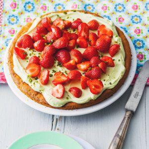Erdbeertorte mit Avocadocreme