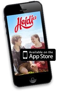Neuste Heidi HTML5 Webseite mit codierten Zahlen und Wander App wurde dieses Jahr von Advico aka Futurecom umgesetzt.