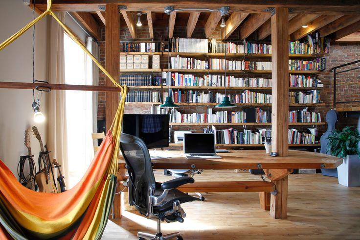 25 Erstaunliches industrielles Home Office-Design