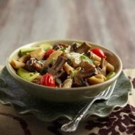 A healthy recipe for Mushroom Pasta packed full of energy