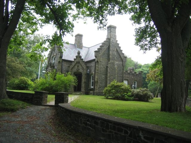 Built in the late 1800s to house the park superintendent, the Lodge in Point Pleasant Park was based on the Gatehouse at Hughenden Manor, High Wycombe, Buckinghamshire, UK. Located near Halifax, Nova Scotia.