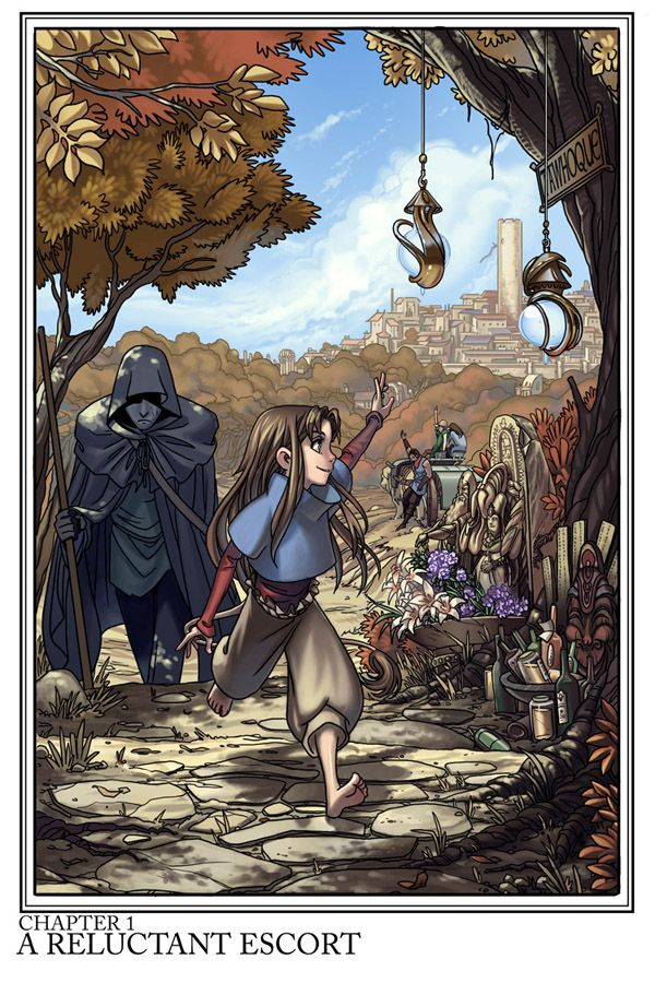 Unsounded by Ashley Cope #webcomic Some dead men tell tales, and some little girls have tails...