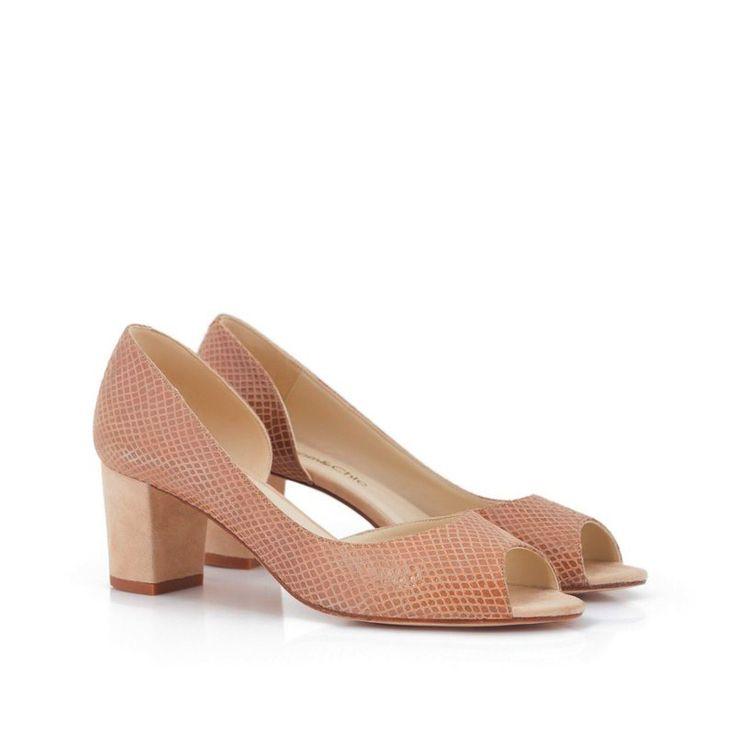 Trenzado de danza zapatos Color Block Peep Toe zapatos nST2Z7IO