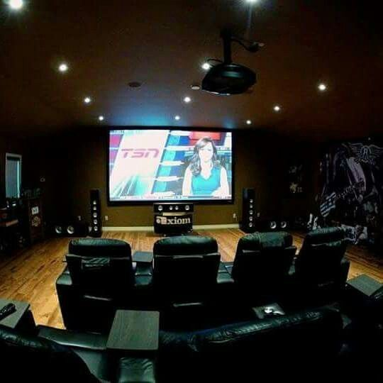 Do you have a garage with second floor storage above? Did you know that this home theatre is over a garage?  Yes, if you have the space, we can design the home theatre that's just right for you!