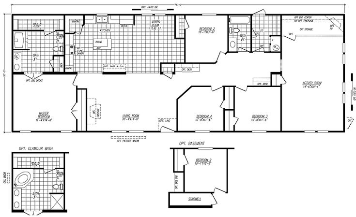 Fleetwood mobile home floor plans and prices for 3 bathroom mobile homes