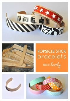 Popsicle Stick Bracelets - Make Life Lovely