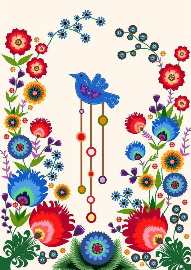 ( via )     ( via )     ( via )     ( via )     Polish folk art or wycinanki (pronounced vee-chee-non-key) are traditionally paper cut...