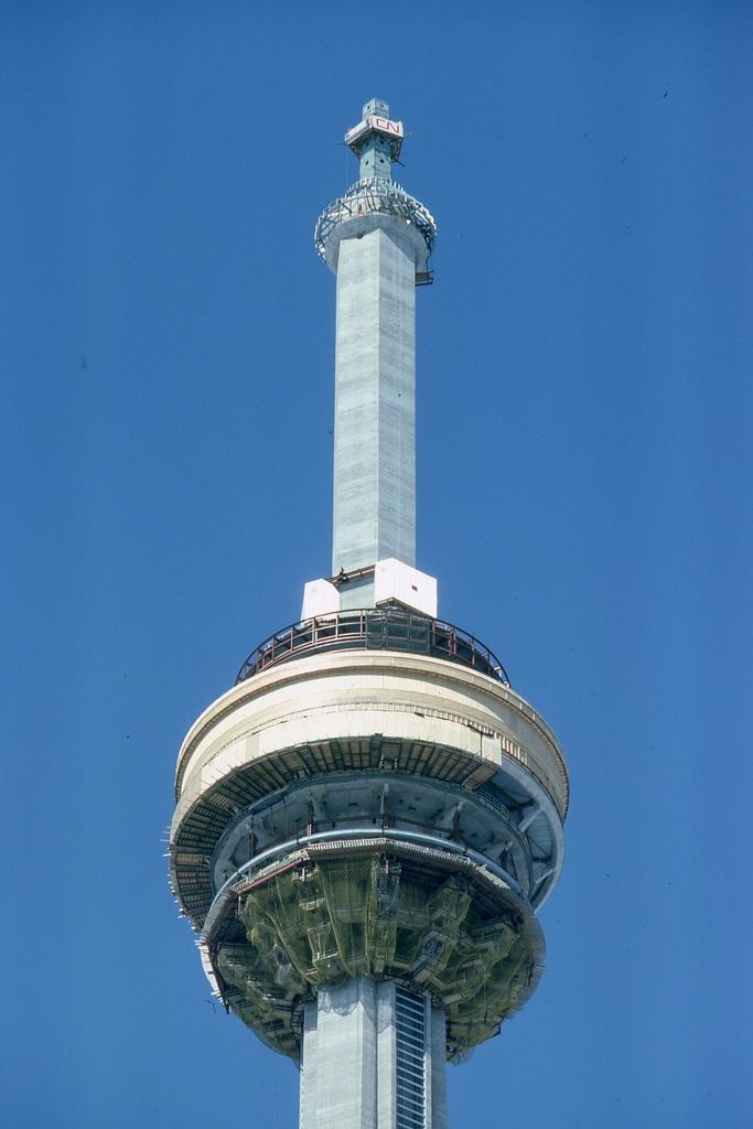CN Tower under construction circa 1975.