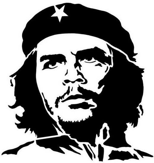 Che Guevara Silhouette dxf File Free Download