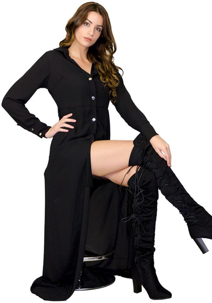 2376227e0fd3 Φόρεμα maxi πουκάμισο