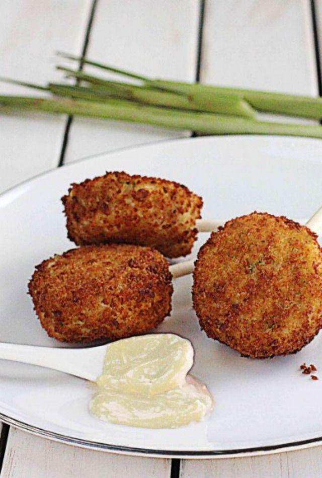 Crab Cake Lollipops with Easy Lemongrass Aioli | Recipe | Crab Cakes ...