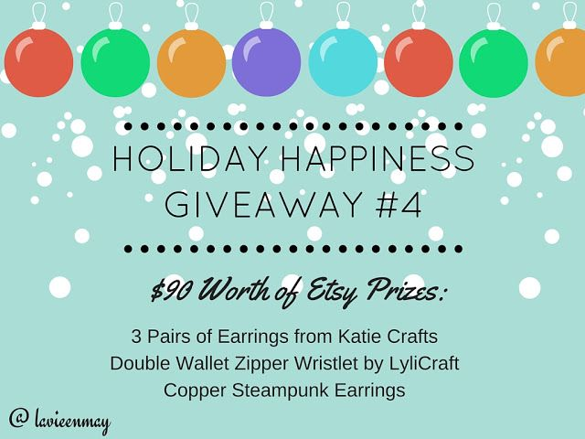 Worldwide Etsy Giveaway is up! Enter to win $90 worth of Etsy prizes. Ends 1/4 @ 11:59 pm EST.