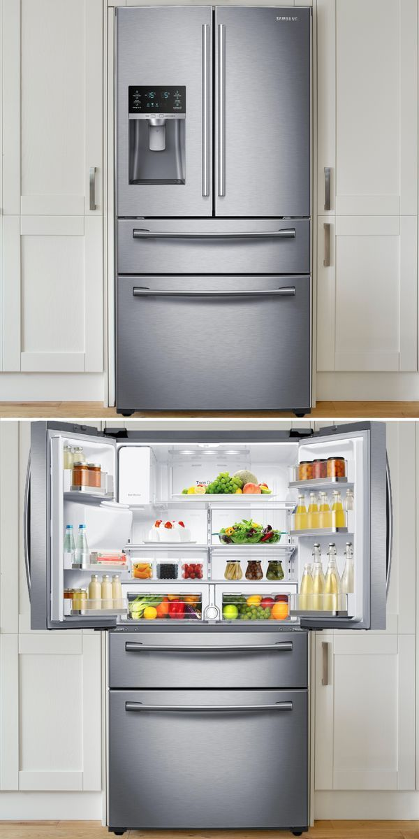 #KitchenGoals: Fridge organization that's perfect for foodies, families, and parties. Shop Sears Hometown Stores and save up to 65% on refrigerator brands like Kenmore, Samsung, Whirlpool, KitchenAid, and more!