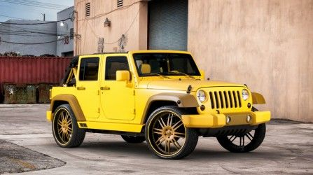 #yellow 2012 Jeep Wrangler Unlimited Rubicon