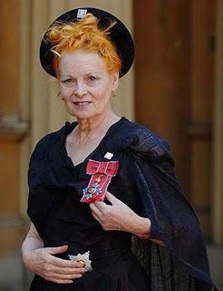 Vivienne Westwood at Buckingham Palace receiving her DBE