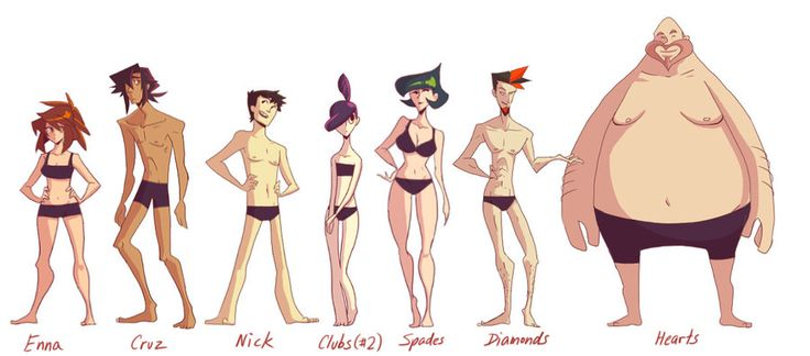CF: Body type lineup by *nargyle on deviantART