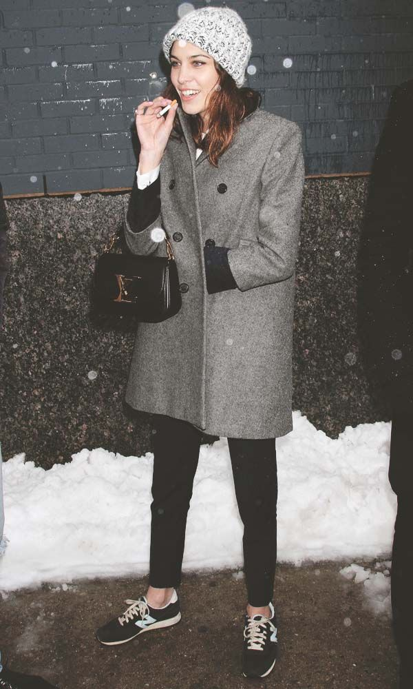 Alexa Chung's Style- new balance and a great boxy coat