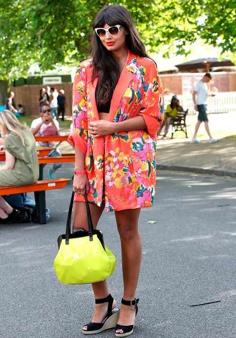 Jameela Jamil works a longline blazer at Wireless festival - perfect outfit inspiration