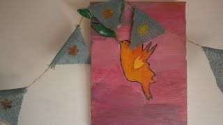 Diy How to make a flag banner Olga's dreamland - YouTube