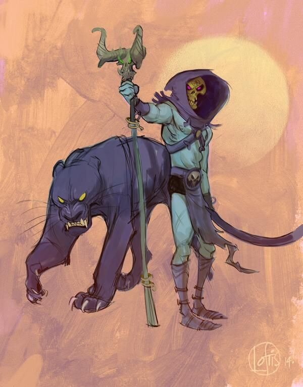Cory Loftis @Sketch_Dailies #SKELETOR http://t.co/ngpxIx996s