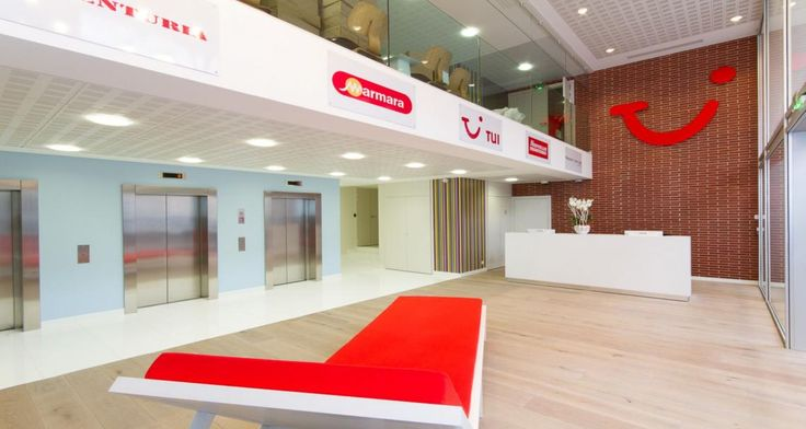 Reception into the premises of TUI in Levallois-Perret, France