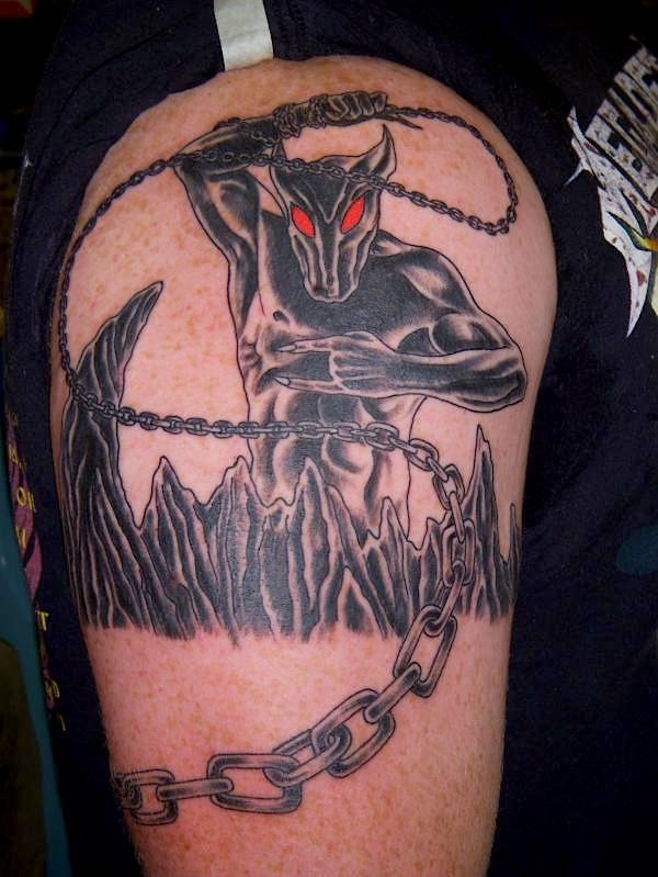 Dio holy diver tattoo by jon reed all saints tattoo for Minimalist tattoo artist austin