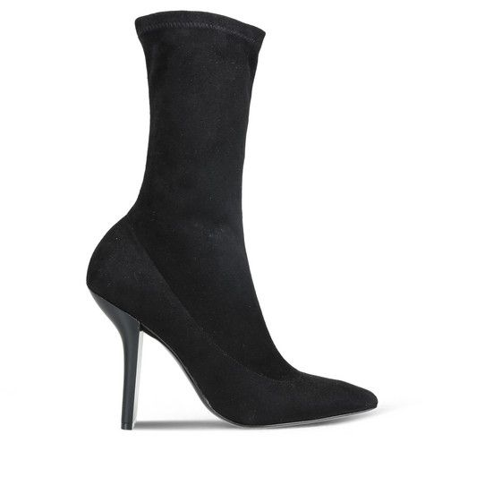 STELLA MCCARTNEY Black Alter Suede High Ankle Boots. #stellamccartney #shoes #boots