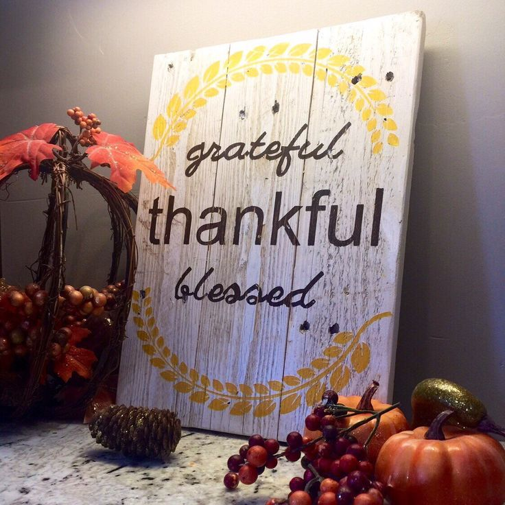 Thanksgiving sign, rustic fall sign, rustic thanksgiving sign, Thankful grateful blessed sign, blessed sign, grateful sign, blessed sign, ho by BlissfullyCraftyCo on Etsy https://www.etsy.com/listing/472539584/thanksgiving-sign-rustic-fall-sign