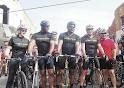 Picabo Street, Ken Griffey, Jr., Bo and Lance Armstrong get ready to Bike Bama. Way to go Bo and War Eagle!!!