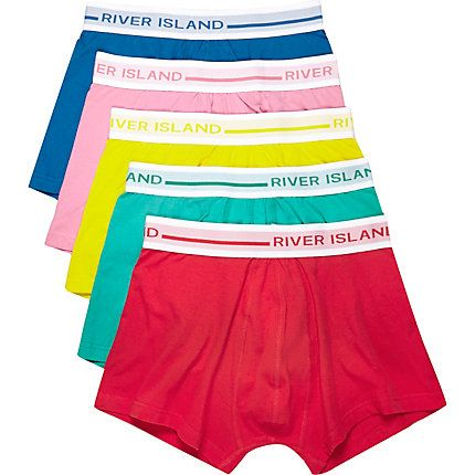 Red block colour trunks pack £22.00