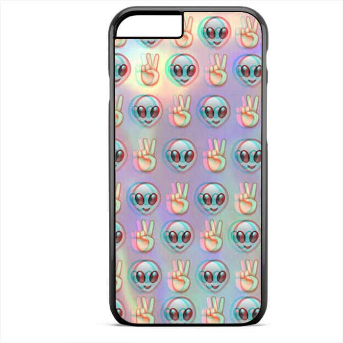 Alien Emoji Peace Background Phonecase For Iphone 4/4S Iphone 5/5S Iphone 5C Iphone 6 Iphone 6S Iphone 6 Plus Iphone 6S Plus