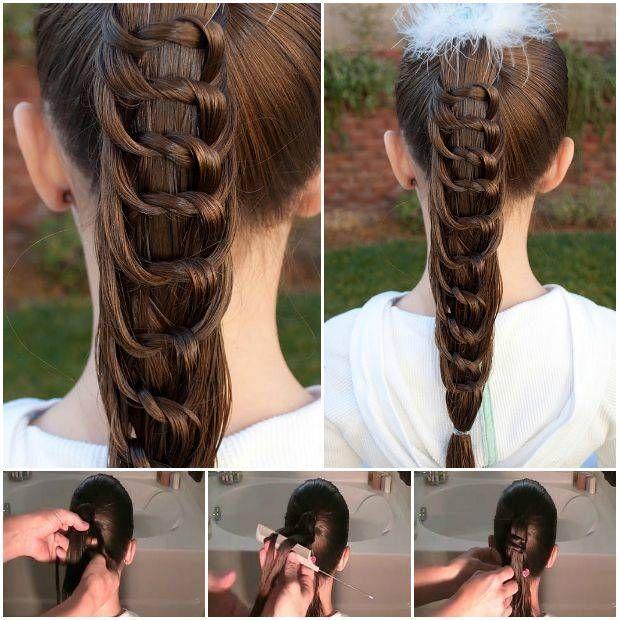 Cómo DIY Bastante Peinado anudada Cola de caballo