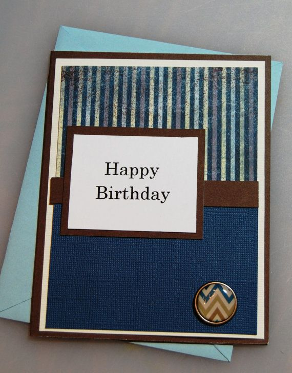 Handmade Birthday Cards For Guys 18 ~ Happy birthday masculine handmade card greeting for man or boy birthdays