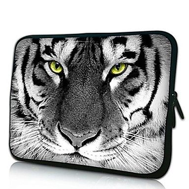 Elonno tiger hoved neopren laptop sleeve taske pose Cover til 13'' Macbook Pro / Air Dell HP Acer – DKK kr. 51