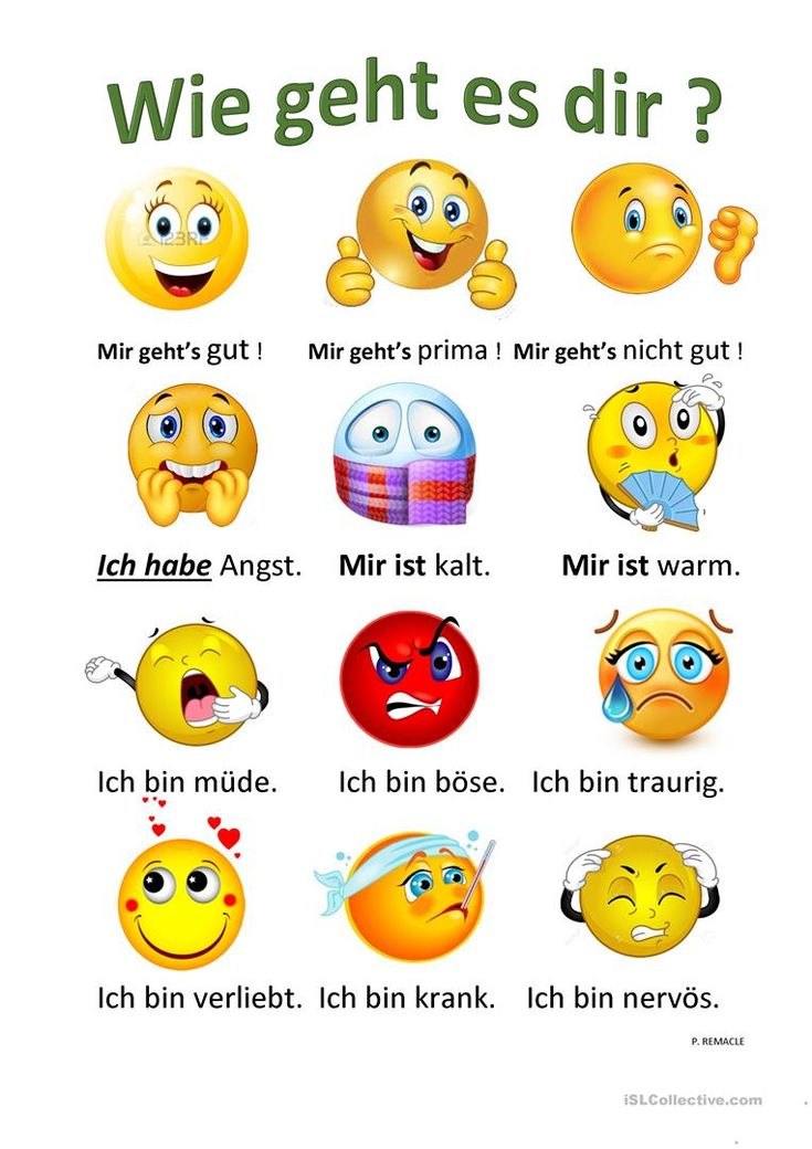 Wie geht es dir ? | Deutsch lernen, Deutsch lernen kinder