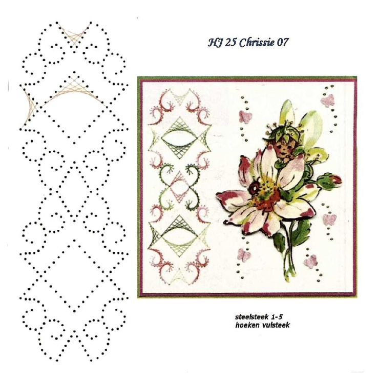 1120 Best Borduren Images On Pinterest Paper Embroidery Cards And