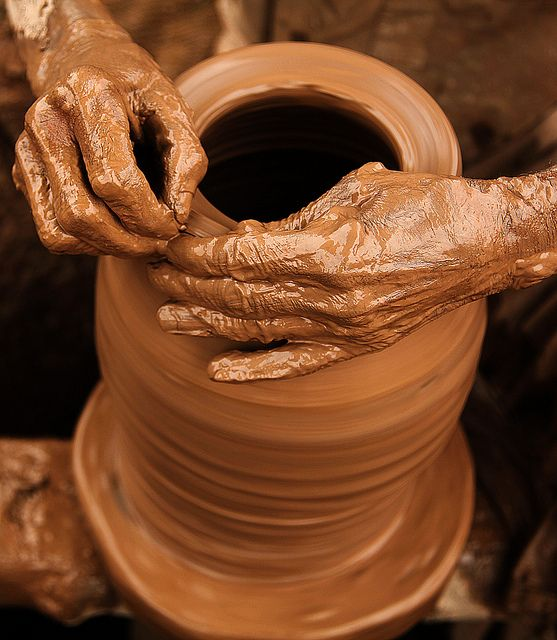 So I went down to the potter's house, and I saw him working at the wheel... the clay was marred in his hands; so the potter formed it into another pot, shaping it as seemed best to him. Jeremiah 18:3-4