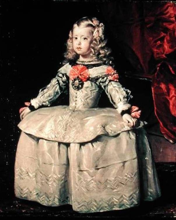 Cuadro de inspiración para este modelo. Infanta Margarita, niña, de Diego Velázquez       Ropa interior: med...