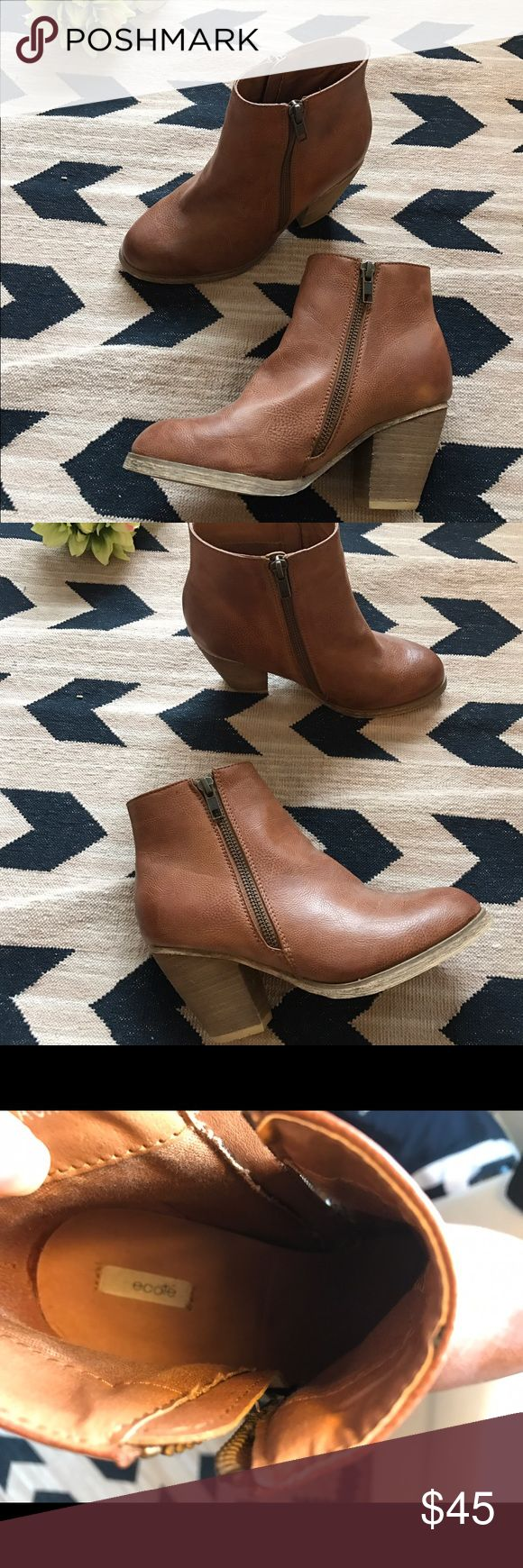 Urban Outfitters brown booties. Urban Outfitters brown booties.  Brand is Ecote.  Faux Leather. Urban Outfitters Shoes Ankle Boots & Booties