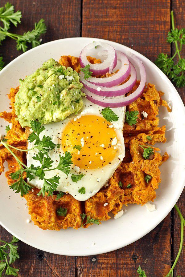 5. Sweet Potato Waffles With Avocado and Egg #greatist http://greatist.com/eat/healthy-waffle-recipes