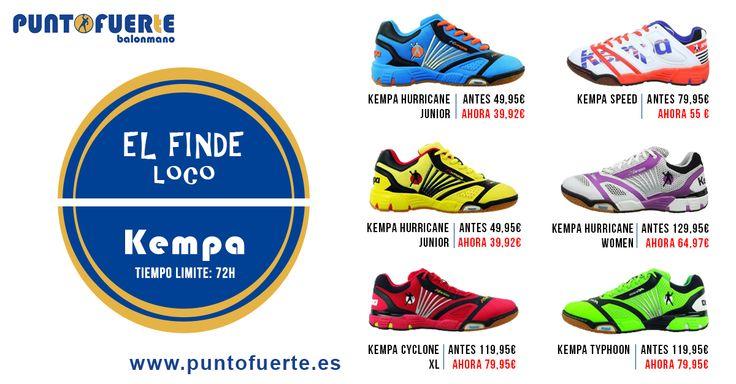 ¡Vuelve el FINDE LOCO de PuntoFuerte! http://blog.puntofuerte.es/finde-loco-de-ofertas-zapatillas-kempa/ Desde este viernes a las 00.00h y hasta el domingo a las 23.59h, las mejores ofertas en calzado Kempa. ¡Aprovecha la oportunidad! ¡Sólo tienes 72h! #zapatillas #balonmano #trainers #Kempa #outlet #PuntoFuerte #FindeLoco Más información: www.puntofuerte.es