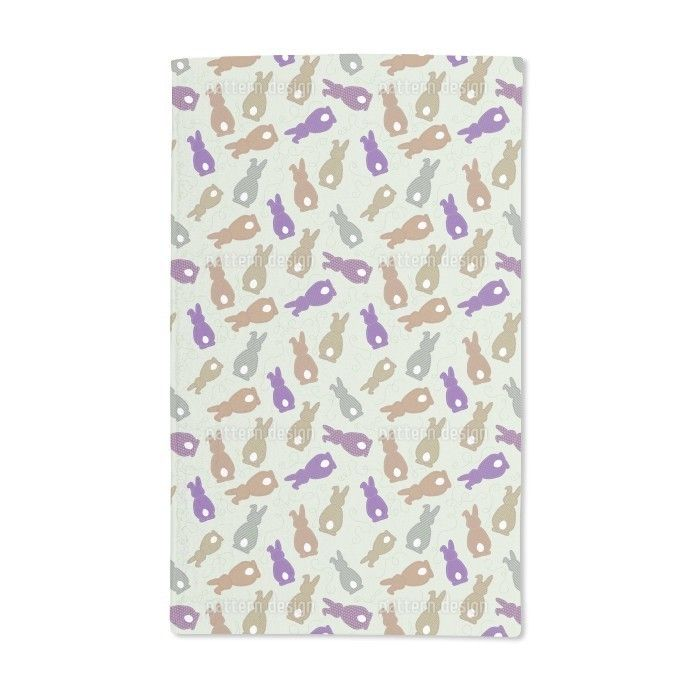 Uneekee Bouncing Bunnies Hand Towel