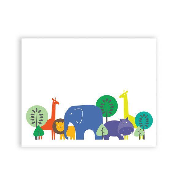 In the Jungle 8 x 10 Art Print/Wall Art  Baby por jenimdesign, $28.00