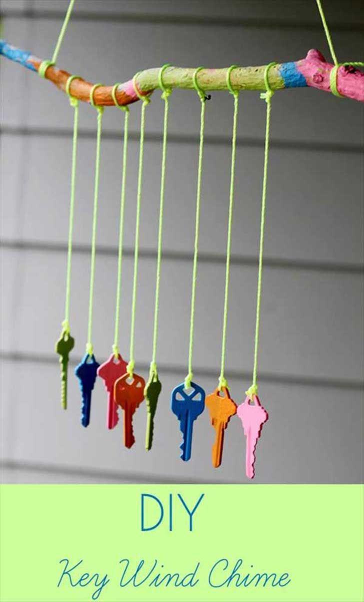 Las llaves que ya no necesitas podrían servir para una ingeniosa campana de viento
