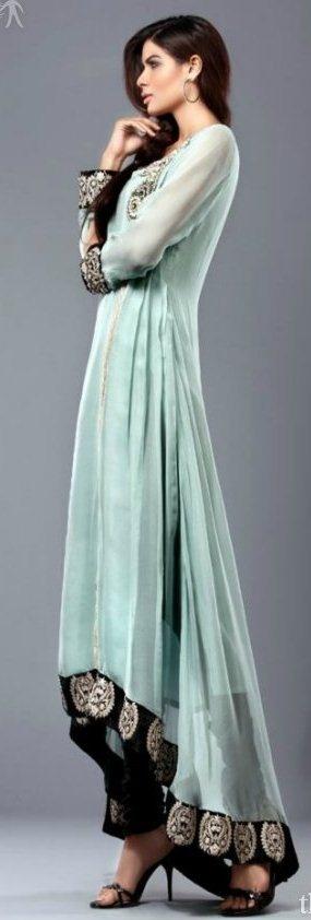 Beautiful, East Indian gown.Love the asymmetrical kurta