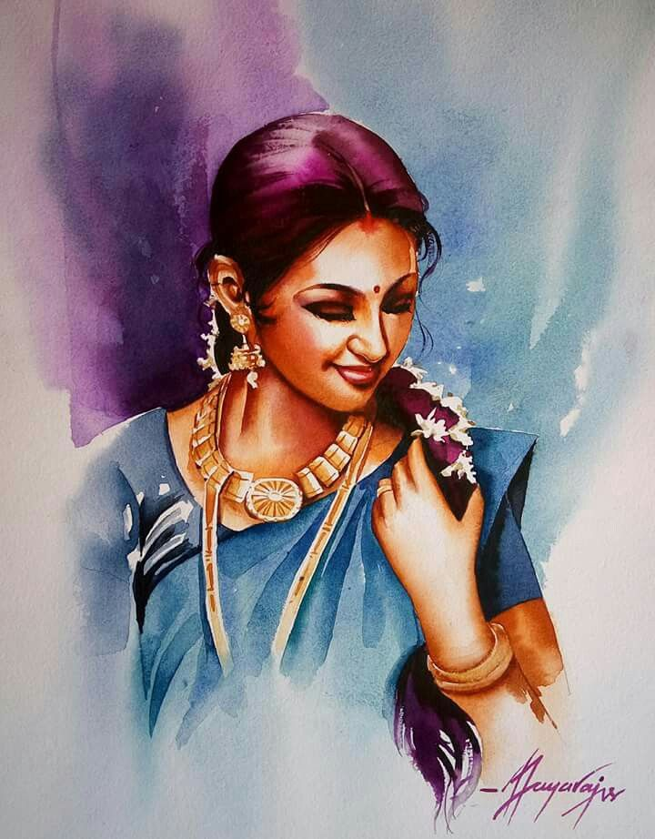Jayaraj Art Indian Paintings Portrait Drawing Indian Art Paintings