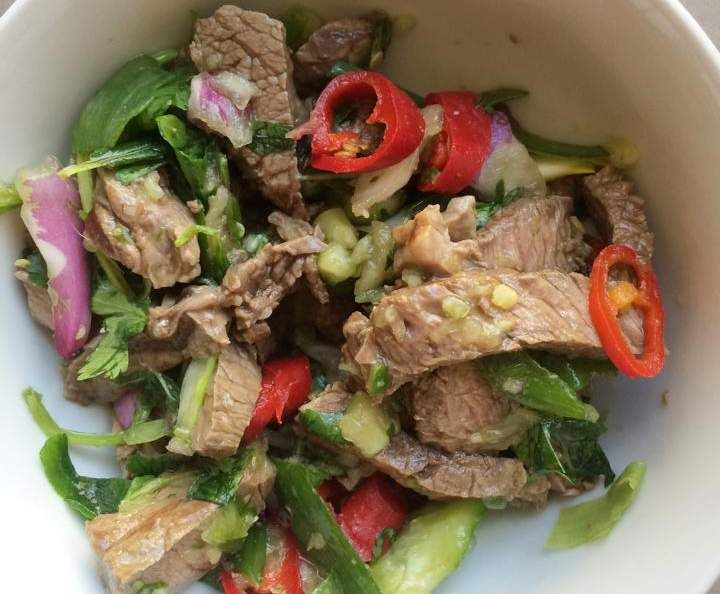 Recipe AUTHENTIC Thai Beef Salad by Aussie TM5 Thermomixer - Recipe of category Main dishes - meat