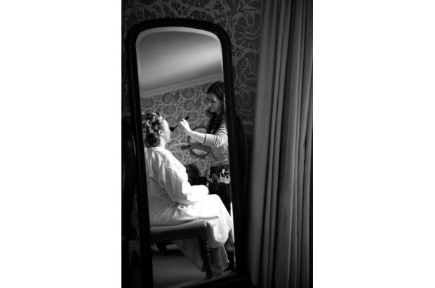 Applying make up to one of our brides. www.empowerstudio.ie #makeup #bride #wedding #beauty
