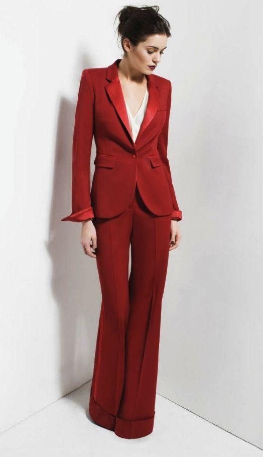 Perfect red tuxedo suit from @Rajinder Pavra Fall 2011 #fashion #style #wishlist
