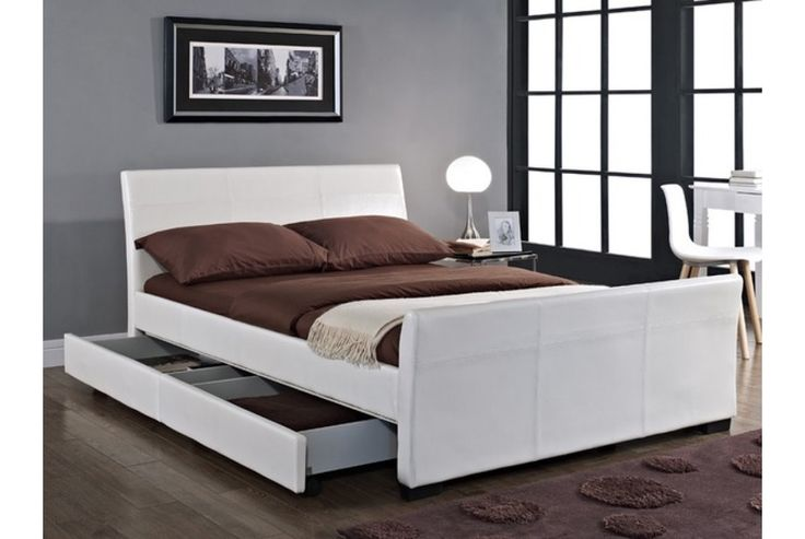 17 best images about bedroom on pinterest bedding sets bed linens and drawers - Leather beds with storage drawers ...